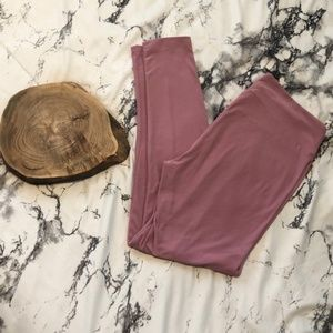 LulaRoe Solid Soft Pink Leggings Tall & Curvy